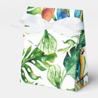 Caixinha Folhas & pássaros tropicais verdes que Wedding o