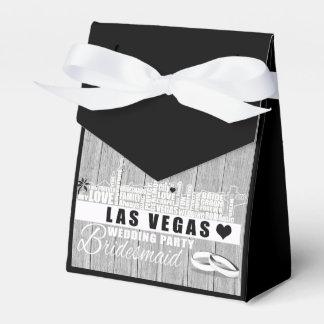 Caixinha Ideias do presente de casamento de Vegas - madeira