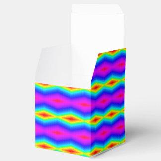 Caixinha Laço-tintura do arco-íris