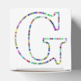 Caixinha Letra G da estrela do arco-íris