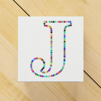 Caixinha Letra J da estrela do arco-íris
