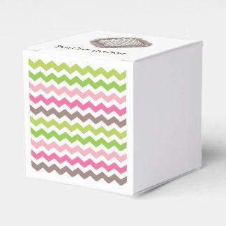 Caixinha Listra colorida da viga com trufa de chocolate