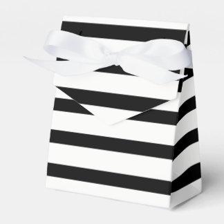 Caixinha Listra customizável preta & branca do smoking ou