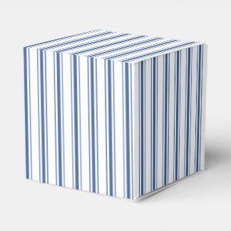 Caixinha Listra estreita de tiquetaque do colchão azul