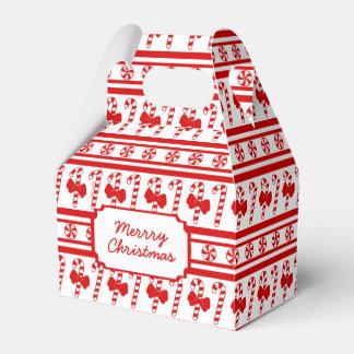 Caixinha Listras do bastão de doces do Natal