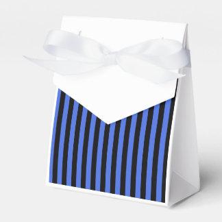 Caixinha Listras finas - preto e azuis marinhos