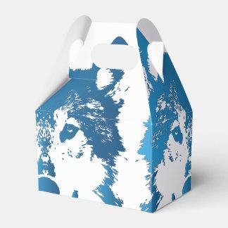 Caixinha Lobo do azul de gelo da ilustração