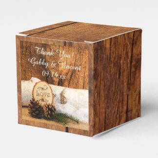 Caixinha Madeira do celeiro do falso, casamento de madeira
