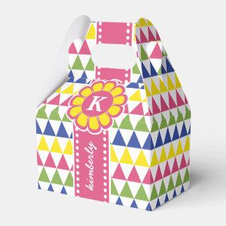 Caixinha Obrigado monograma colorido Ri da pirâmide do