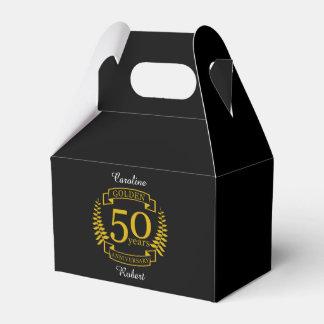 Caixinha Ouro DOURADO 50 anos de aniversário de casamento