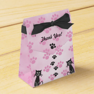 Caixinha Personalize impressões pretos cor-de-rosa da pata