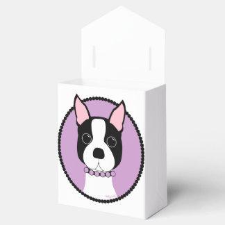 Caixinha Roxo de Boston Terrier