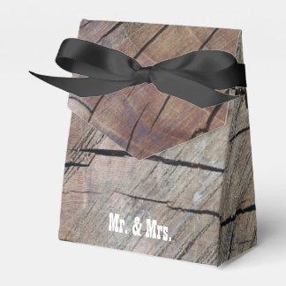 Caixinha Sr. do design da grão & Sra. de madeira rústicos