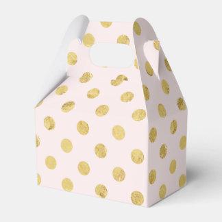 Caixinha Teste padrão de bolinhas elegante da folha de ouro
