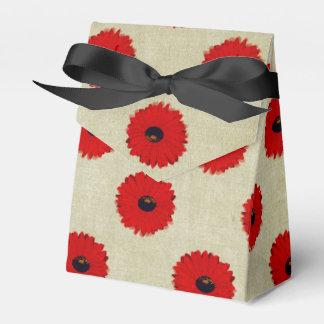 Caixinha Teste padrão de flores vermelho rústico