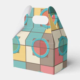 Caixinha Teste padrão geométrico colorido