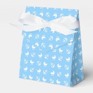 Caixinha Teste padrão náutico do bebé dos azul-céu