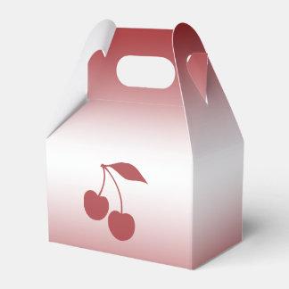 Caixinha Vermelho de cereja ao inclinação branco