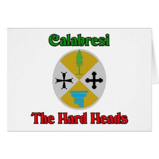 Calabresi as cabeças do duro cartão comemorativo