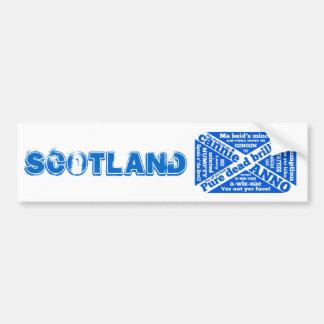 Calão e frases escoceses adesivo para carro