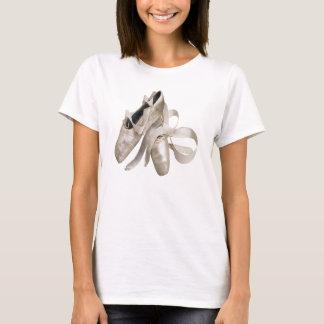 Calçados da bailarina camiseta