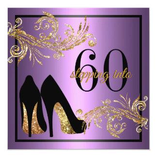 Calçados da dança - 60th convite fabuloso do