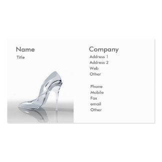 Calçados da mulher - cartão de visita