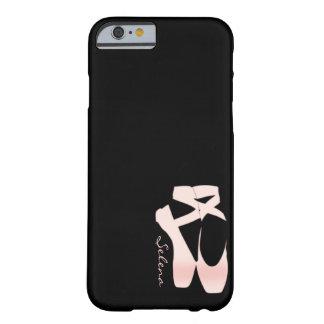 Calçados de balé macios personalizados do rosa do capa barely there para iPhone 6