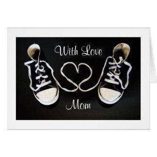Calçados de Gym e cartão do dia das mães do amor