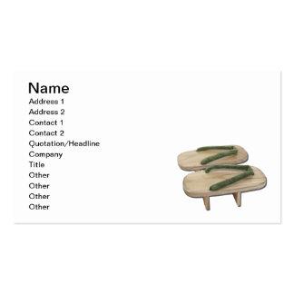 Calçados de madeira do Geta Cartões De Visita