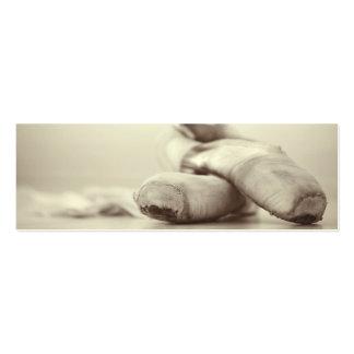 Calçados de Pointe do balé no modelo de Dance Cartão De Visita Skinny