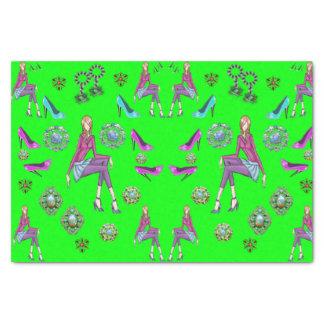 Calçados decorativos dos adolescentes do lenço de papel de seda