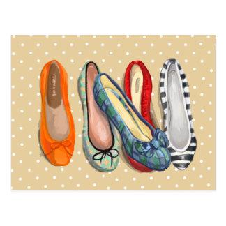 Calçados - deslizadores minúsculos cartão postal