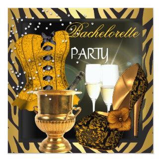 Calçados do espartilho do preto do ouro da festa