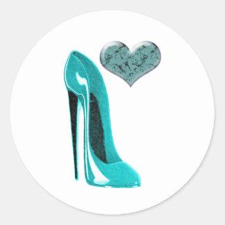Calçados do estilete de Bubblegum e coração 3D Adesivo