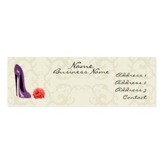 Calçados do estilete do Lilac e cartão de visita à