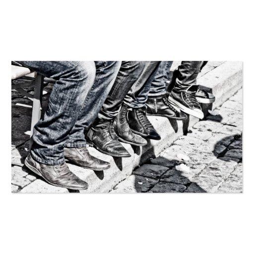 Calçados do passeio cartoes de visitas