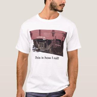 Calçados dos comp(s) do carro de trilho - t-shirt camiseta