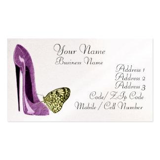 Calçados elegantes do estilete do Lilac e Cartão De Visita