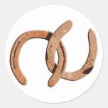 Calçados oxidados do cavalo de Brown Adesivo