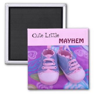 Calçados pequenos bonitos dos ímãs da criança do ímã quadrado