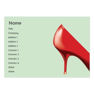 Calçados vermelhos - carnudos cartoes de visita