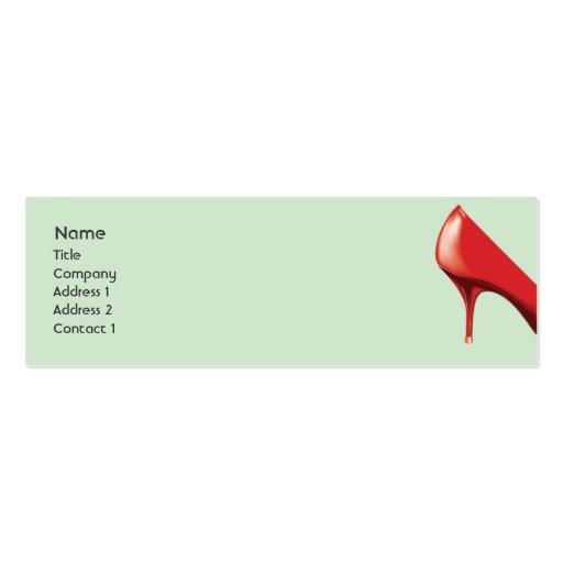 Calçados vermelhos - magros cartões de visita
