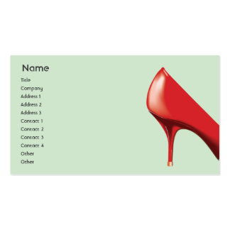 Calçados vermelhos - negócio cartao de visita