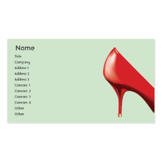 Calçados vermelhos - negócio cartão de visita