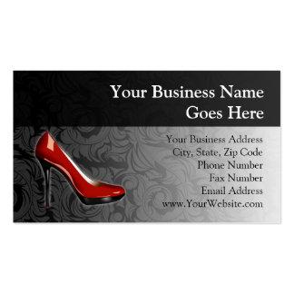 Calçados vermelhos Sassy Cartão De Visita