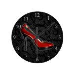 Calçados vermelhos Sassy Relógios Para Pendurar