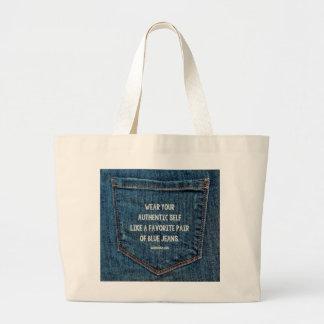 Calças de ganga bolsa para compras