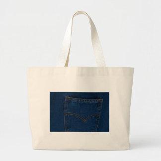 calças de ganga bolsas de lona
