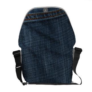Calças de ganga bolsa mensageiro